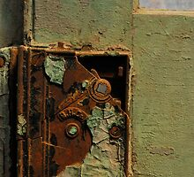 rusty old door lock by Jeff Stroud