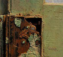 rusty old door lock by Jeff Stroud