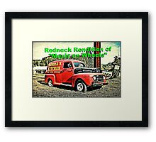 """Redneck Rendition of 'Meals on Wheels'""... prints and products Framed Print"