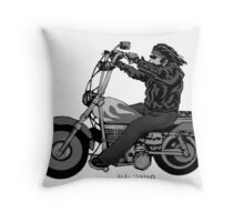 Biker1 Throw Pillow