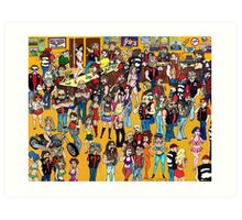 clubhouse party1 Art Print