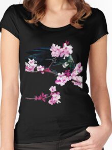 Tui Feeding on Cherry Blossoms Women's Fitted Scoop T-Shirt