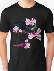 Tui Feeding on Cherry Blossoms Unisex T-Shirt