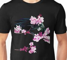 Tui Feeding on Cherry Blossoms Unisex T-Shirt
