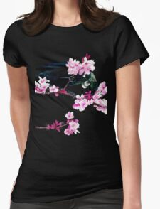 Tui Feeding on Cherry Blossoms Womens Fitted T-Shirt