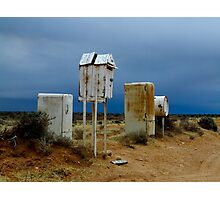 stormy mailboxes Photographic Print