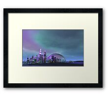 City of Glass Gold and Silver V3 Framed Print