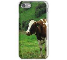 Cow on a Hillside iPhone Case/Skin