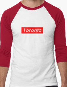 Toronto Supreme Box Logo Men's Baseball ¾ T-Shirt