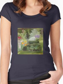 Hall's Pond Sanctuary Garden Women's Fitted Scoop T-Shirt
