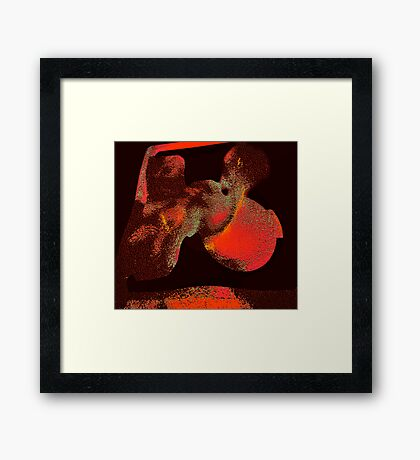 relics of ancient life.... an abstract vision  Framed Print