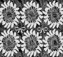 Black and White Floral by CarolM