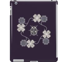 LadyBug Clovers - Chrome iPad Case/Skin