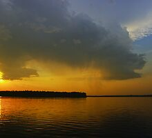 Sunset rainstorm by Dave Parrish