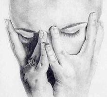 Self-portrait as despair by Christine Hirtescu