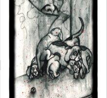 Happy Sad Puppies Sticker