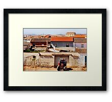 Spanish farm community Framed Print