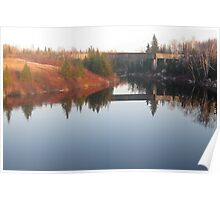 Sunset over the Porcupine River Poster
