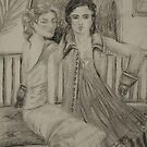A portait of two women taken for remembrance.  by Zelli