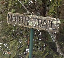 North Trail Sign by Sunnie