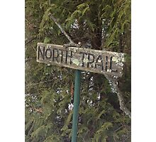 North Trail Sign Photographic Print