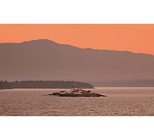 Lighthouse Sunset - Vancouver Island Photographic Print