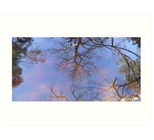 Fake clouds under the reflection Art Print