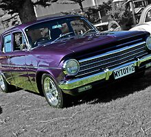 Purple EH Holden on Black and White background by Ferenghi