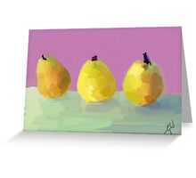 Painted  Pears Greeting Card