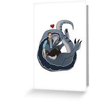 Jurassic Hug Greeting Card