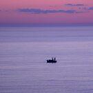 Dawn Fishing Boat by Bonnie Robert