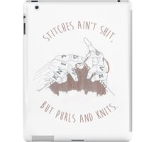 Stitches Ain't Shit iPad Case/Skin