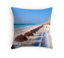 Cancun Morning Throw Pillow