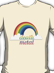 Death metal funny rainbow text tshirt T-Shirt