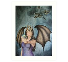 Dragon Queen - calling the subjects Art Print