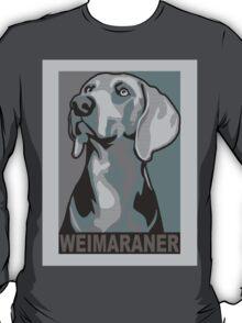 Classic Weimaraner poster-style portrait T-Shirt