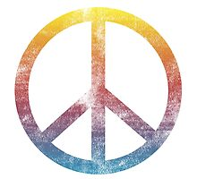 Peace sign rainbow by AnnaGo