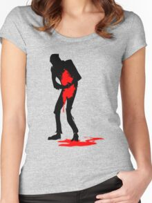 Halftone Haemorrhage Women's Fitted Scoop T-Shirt