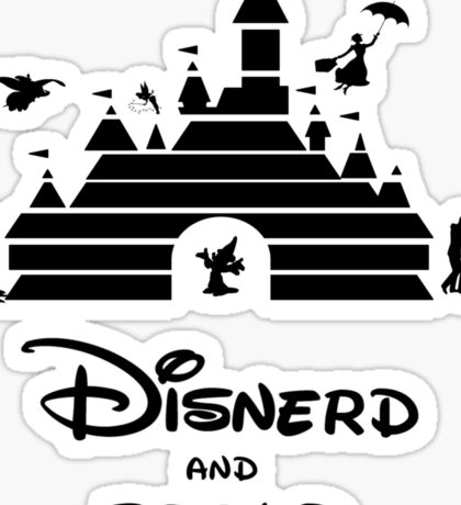 Disnerd and Proud Sticker