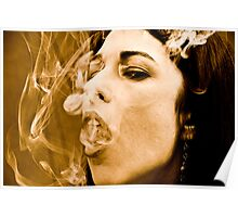 Woman smoking Poster