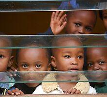 African children in school by Maria Kumlander