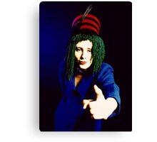 Fashion portrait girl in Blue Canvas Print