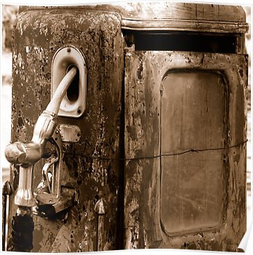Old Gas Pump by Terry Runion