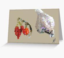 Chillies n garlic Greeting Card