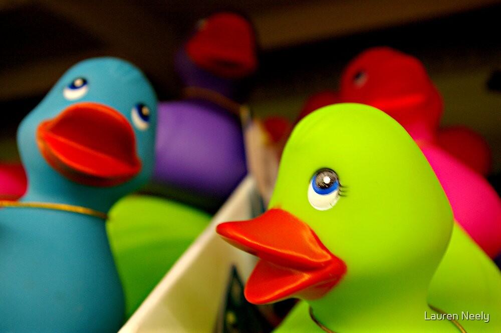 Rainbow Ducks by Lauren Neely