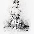 Seated Nude study by Pieter  Zaadstra
