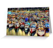 Fishermans Terminal ~ HDR Series ~ Seattle, WA Greeting Card