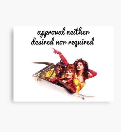 Approval not required Canvas Print