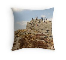 Climbing in The Comeraghs Throw Pillow