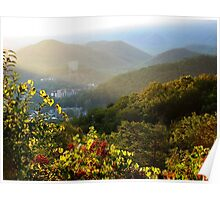 Sunrise Over Gatlinburg, Tennessee GSMNP Poster